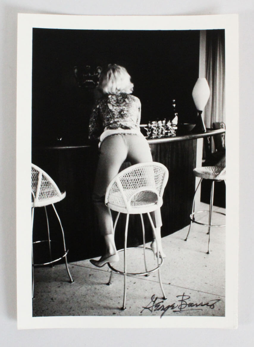 Marilyn Monroe Photo Signed George Barris 5x7  1962-From Behind