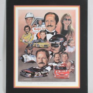 THE EARNHARDT LEGACY Print Signed GEORGE WRIGHT AP - COA