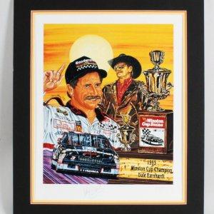 Dale Earnhardt Sr Signed Lithograph NASCAR - COA JSA