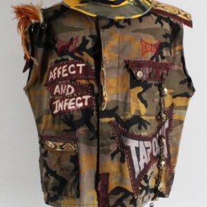 "Charles ""Mask"" Lewis Jr. Worn Vest & Hat UFC Tapout w/ Tribute Display -Big John McCarthy"