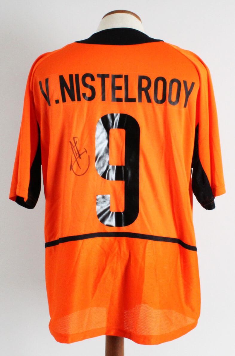 designer fashion 5c045 ff6b6 Ruud van Nistelrooy Signed Team Netherlands Jersey - COA JSA