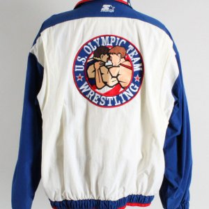 Jeff Blatnick Worn Jacket USA Olympic Gold Medalist -COA Big John McCarthy