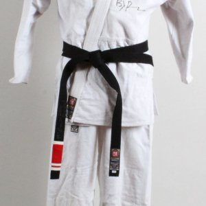 B.J. Penn Training-Worn, Signed Brazilian Jiu-Jitsu Gi w/ Signed Black Belt (2000 Mundial) Big John McCarthy