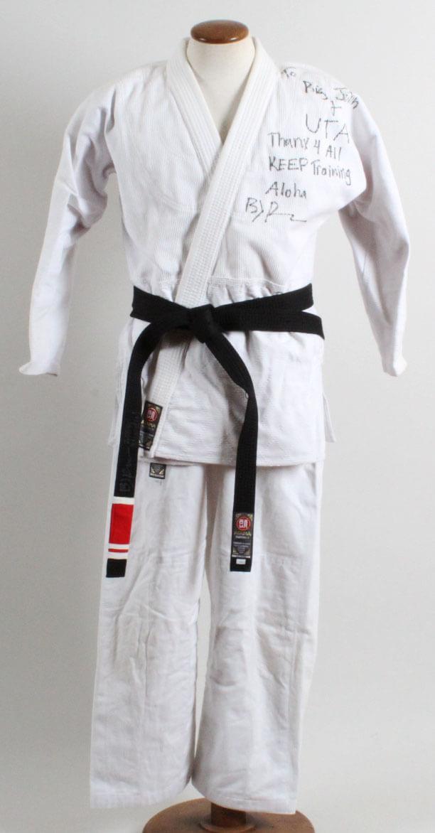 B.J. Penn Training-Worn, Signed Brazilian Jiu-Jitsu Gi w/ Signed Black Belt (2000 Mundial) Big John McCarthy