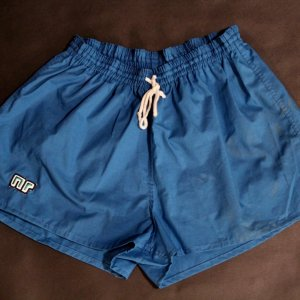 A Pair of Diego Maradona Game-Used Napoli Shorts.  1980's.