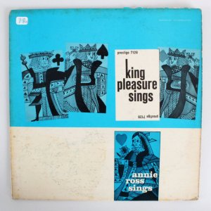 King Pleasure Sings Autographed Signed & Inscribed Album Cover