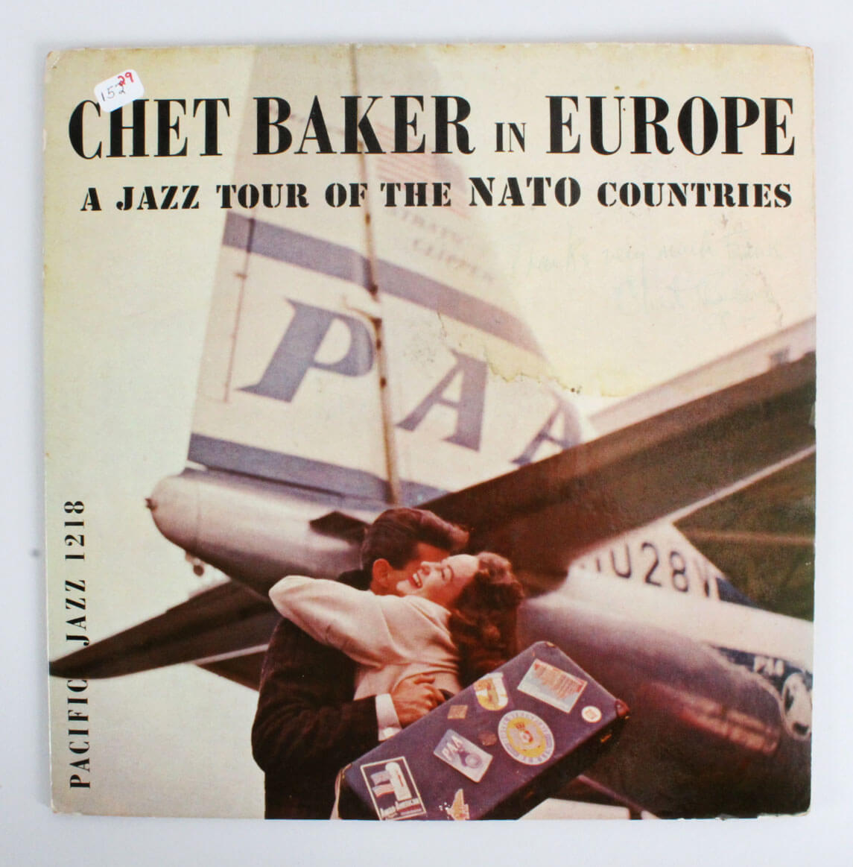 Chet Baker Signed & Inscribed 1958 Album Cover In Europe - JSA Full Letter