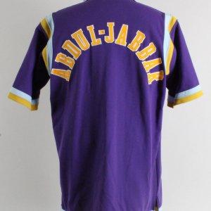 1986 Kareem Abdul-Jabbar Game-Worn Warm-Up Los Angeles Lakers Jacket- Graded- 13/20 - COA 100% Authentic Team