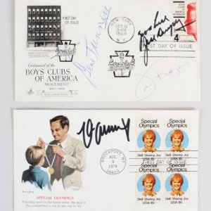 Boxing Greats Jack Dempsey, Gene Tunney & Max Schmeling Signed Cachets First Day Covers FDC