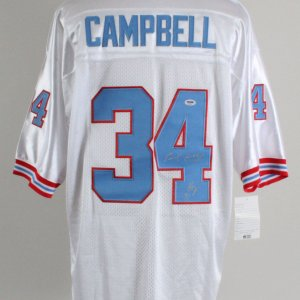 Earl Campbell Signed Houston Oilers Jersey - COA PSA/DNA
