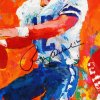 Walter Payton, Johnny Unitas Multi-Signed Print - COA JSA