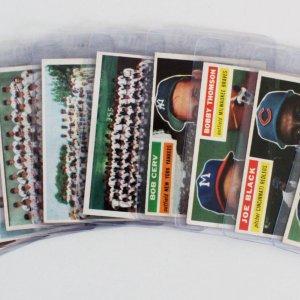 1956 Topps Baseball Card Lot (9) - Warren Spahn, Roy Campanella, etc.