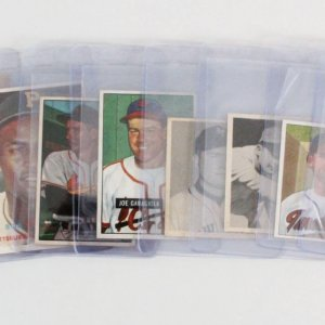 Vintage 1940's-50's Bowman & Topps Baseball Card Lot (10) - Roberto Clemente, Gil Hodges, etc.