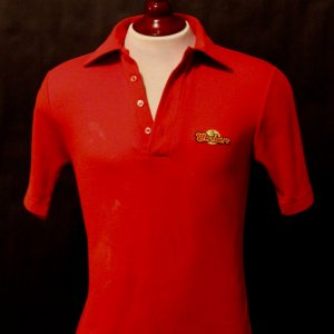 A George Best Game-Used Ft. Lauderdale Strikers NASL Training/Polo Shirt.  Circa 1978/79.