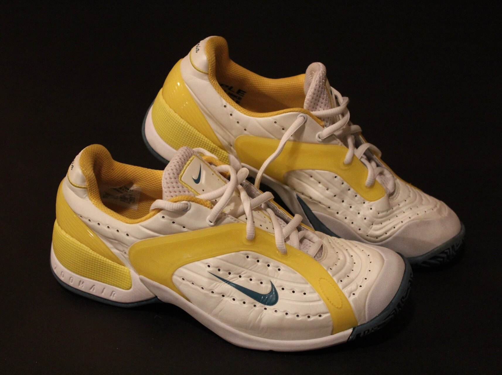 A Pair of Maria Sharapova's Game-Used Custom Nike Tennis Shoes.  2010 Australian Open.