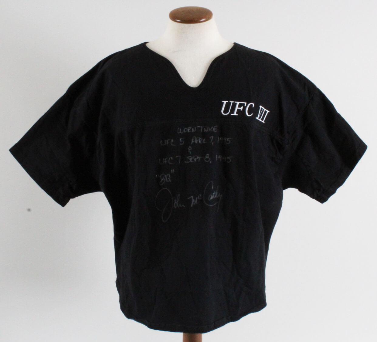 Big John McCarthy Fight-Worn (Twice), Signed Shirt - Used in UFC 5: The Return of the Beast & UFC 7: The Brawl in Buffalo