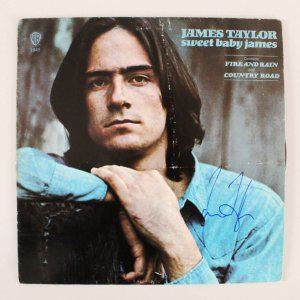 James Taylor Signed Album Sweet Baby James - COA JSA