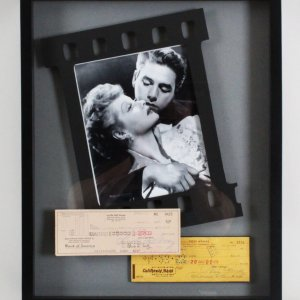 Lucille Ball & Desi Arnaz Signed Checks 17x21 Photo Display