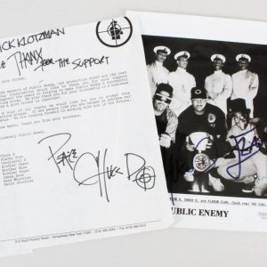 Public Enemy Chuck D & Flavor Flav Signed 8x10 Photo & Autographed TLS  - COA JSA