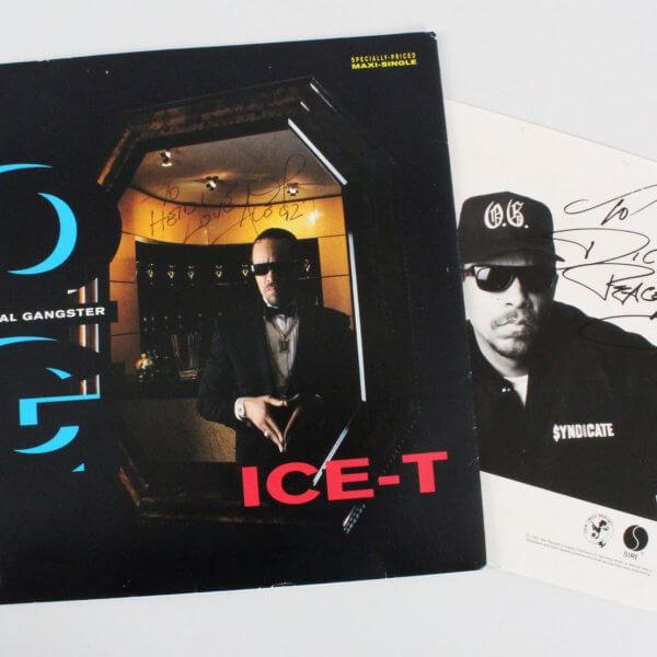 Ice-T Signed Album Original Gangster - COA JSA