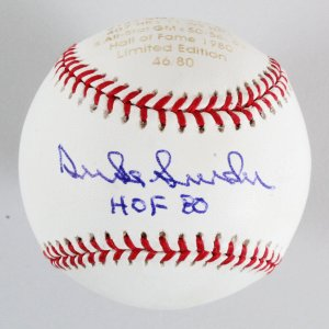 Duke Snider Signed LE 46/80 Baseball Los Angeles Dodgers - COA PSA/DNA