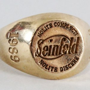 Jerry Seinfeld Tiffany Ring for Cast & Crew - Provenance Letter