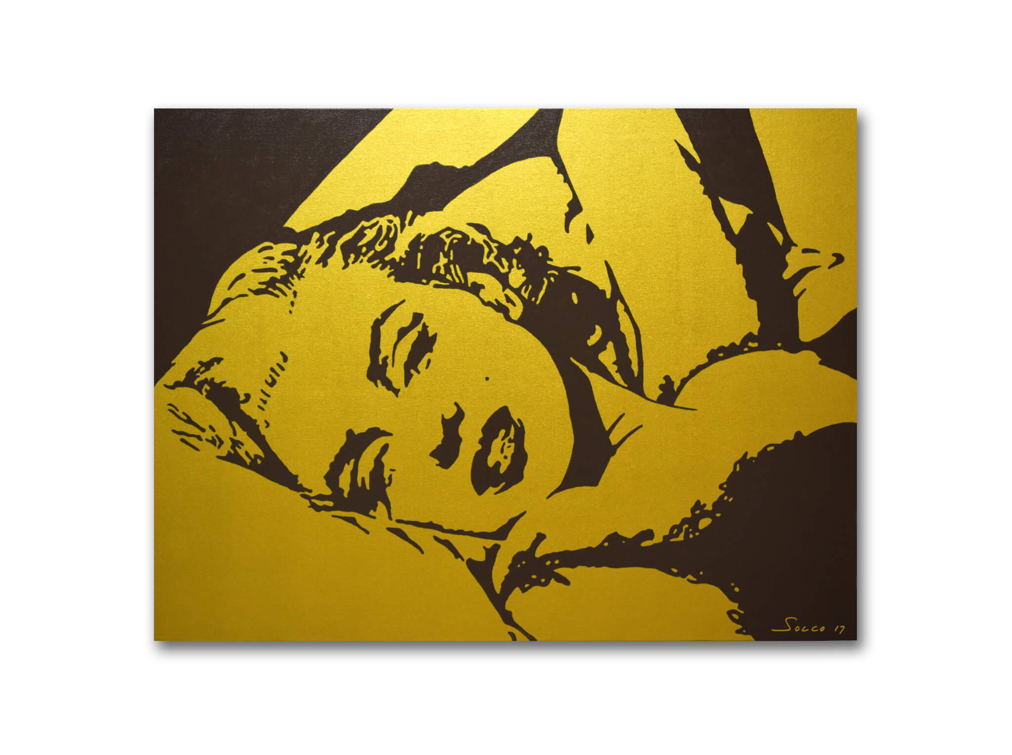 Original Hand Painting On Canvas Gold Marilyn Monroe 30×40 ...
