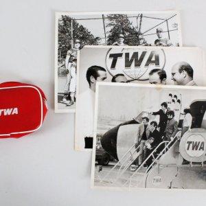 TWA Vintage 1965 Photos Beatles  Lot (4)