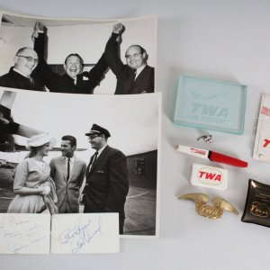 Connie Stevens & Robert Conrad Signed TWA  11 Lots - COA JSA