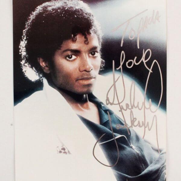 Michael Jackson Signed 8x10 Photo - JSA Full LOA