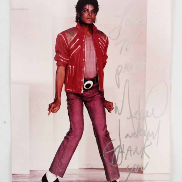 Michael Jackson Signed 8x10 Photo - JSA Full LOA