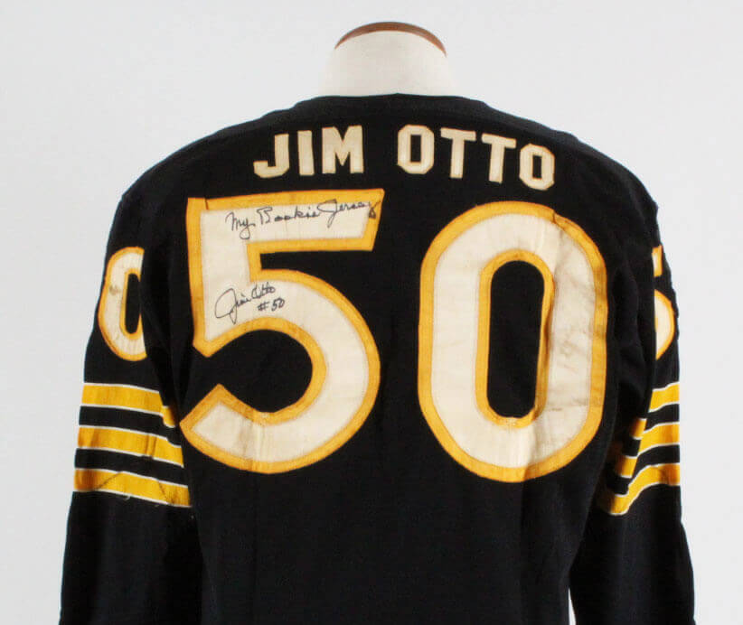 1960 Jim Otto Game Worn, Signed Oakland Raiders Rookie Jersey