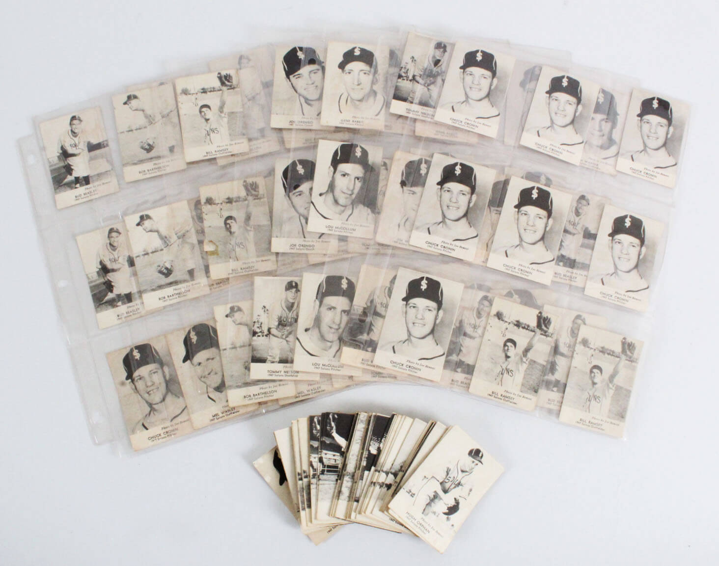 1947 Sunbeam Solons Baseball Card Partial Set 23/26 with Extras - (113 Cards)