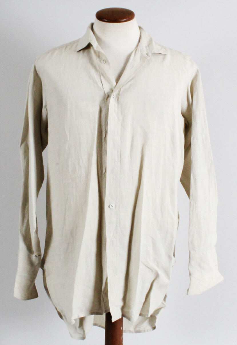 """Gangs Of New York"" Bill The Butcher Costume Shirt  Worn by Daniel Day-Lewis' Double (Backlot Props)"
