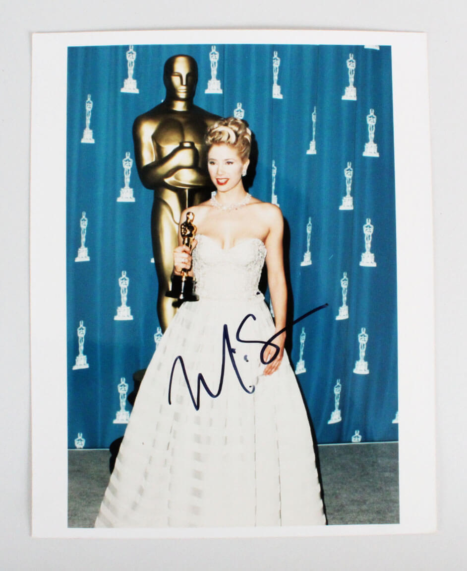 Mira Sorvino Signed 8x10 Photo - COA JSA