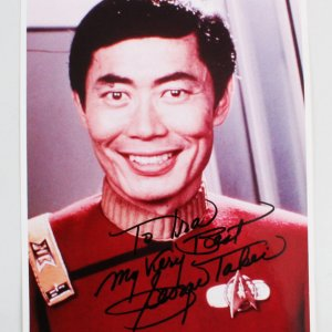 George Takei Signed 8x10 Star Trek Photo - COA JSA