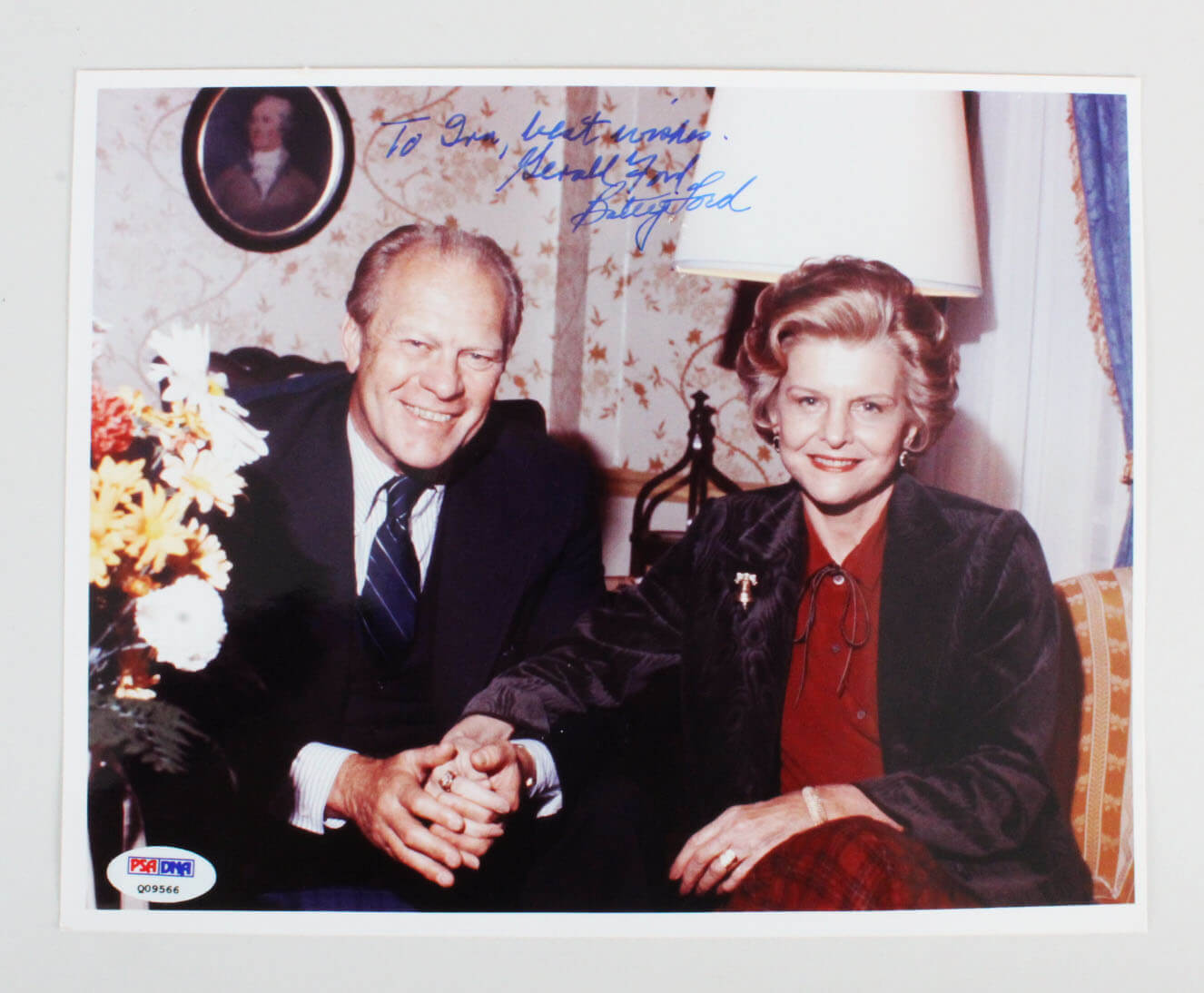 President Gerald Ford & Betty Ford Signed 8x10 Photo - PSA/DNA Full LOA