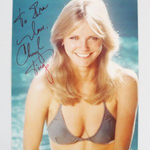 Cheryl Tiegs Signed 8x10 Photo - COA JSA