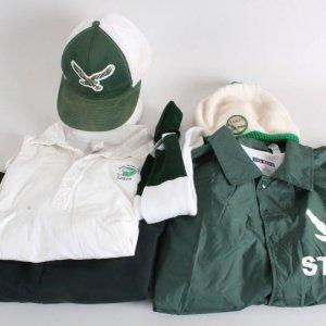 2006 Invincible Screen Used Costume Props Lot Coaches Uniform Incl. Eagles Hat, Jacket, Polo Shirt etc. (Backlot Props)