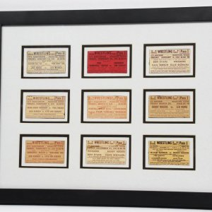 Nine Vintage 1940's Wrestling Tickets from the Nick Bockwinkle Collection