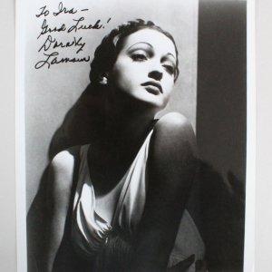 Dorothy Lamour Signed 8x10 Photo - COA JSA