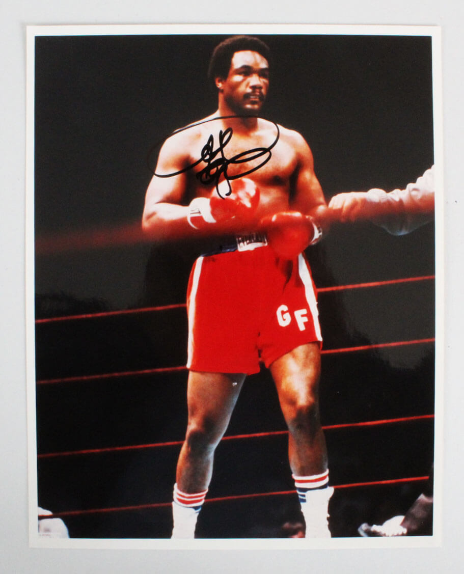 George Foreman Signed 8×10 Boxing Photo