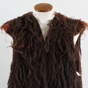 """Camelot"" Worn Burlap & Yarn Coat Lionel Jeffries as King Pellinore Costume (Backlot Props)"