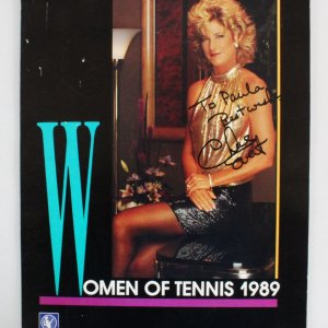 Chris Evert Signed Tennis Calendar - COA JSA