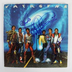 "Jackson 5 Multi-Signed ""Victory"" Record Album (5) - Tito Jackson, Randy Jackson, etc. - COA JSA"