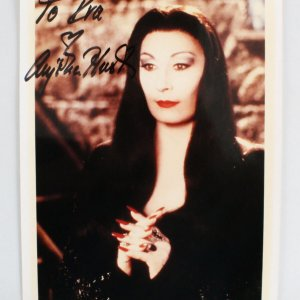 Anjelica Huston Signed 8x10 Adams Family Photo - COA JSA