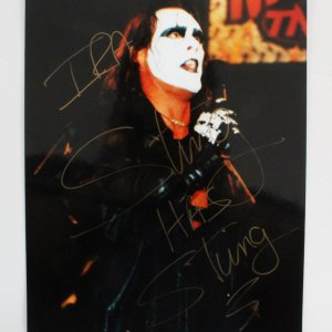 Sting Signed 8x10 TNA Wrestling Photo - COA JSA