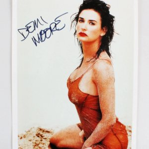 Demi Moore Signed 8x10 Photo - COA JSA