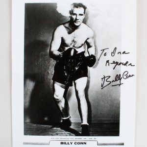 Billy Conn Signed 8x10 Boxing Photo - COA JSA