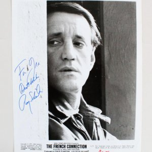 Roy Scheider Signed 8x10 The French Connection Photo - COA JSA